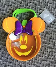 Minnie Mouse Trick or Treat Bag Glows in Dark Jol Halloween Disney Store Nwt