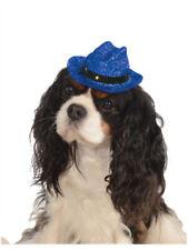 Blue Sparkle Glitter Cowgirl Cowboy Hat For Pet Dog