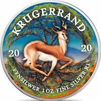 Südafrika 1 Rand 2020 Silbermünze Krügerrand PANGÄA Serie in Farbe