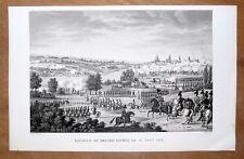 Eau-forte, Bovinet d'après Couché, Bataille de Dresde (1813), début XIXe siècle.
