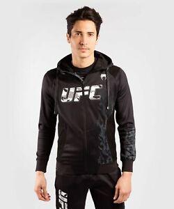 UFC SWEATSHIRT VENUM AUTHENTIC FIGHT WEEK MEN'S ZIP HOODIE - BLACK LIMIT EDITION