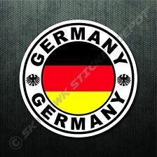 "4"" German Circle Flag Decal Bumper Sticker Germany Sport Car Decal Euro Fits BMW"