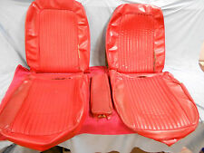 1963 Corvette Seat Covers, Original, Red