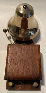 Victorian Brass/Nickel Working Door/Butler Bell - One Of A Kind! Beautiful Wood!