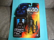 TIE FIGHTER 1995 STAR WARS POWER OF THE FORCE RED CARD MOC KENNER FREE SHIPPING