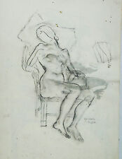 Raphael Soyer       Seated Nude with Pillow