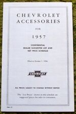 1957 Chevrolet Car & Trucks Accessory Listing & Prices 57 Chevy