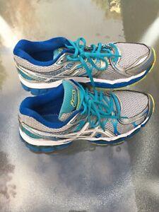 ASICS Gel-Cumulus 16 women's running/training shoes gray/blue size 9.5 medium