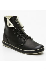 PALLADIUM Sneakers montantes Slim Snaps en cuir noir T41 NEUF