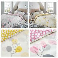 Eucalyptus Flannel Floral Brushed Cotton Duvet Covers Bedding Sets Double King