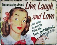 Live, Laugh and Love  Metal Sign