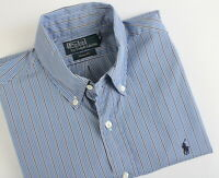 POLO BY RALPH LAUREN CUSTOM FIT Men's M Button Down Striped Casual Shirt 22900_S