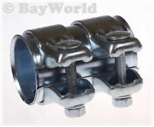 5x BayWorld Auspuff Universal Rohrverbinder 45x49,5x80mm Doppelschelle 45x80mm