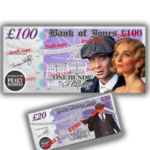 🎬 30 Peaky Blinders Fake Novelty Bank Notes Pounds Play Money Party Decorations