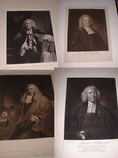 Antique 1800's Portfolio of 24 Engravings of Important Religious & Other Men