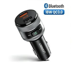 Dual USB Car Charger for Fast Charging Power Kit Bluetooth FM Radio Mini Adapter