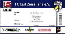 Ticket II. BL 2007/2008 FC Carl Zeiss Jena - SC Paderborn, 06.04.2008