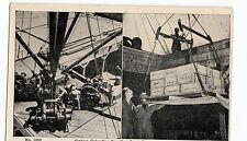 c1920 CAMP PERRY Virginia VA Postcard SEABEES UNLOADING SUPPLIES 2 View