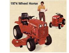 1974 Wheel Horse  Lawn Tractor  Refrigerator / Tool Box  Magnet