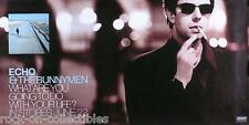 ECHO & THE BUNNYMEN 1999 WHAT ARE YOU GOING TO DO DOUBLE SIDED PROMO POSTER