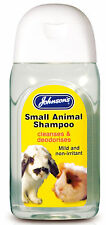 Johnson's Small Animal Shampoo 125ml Rabbits Guinea Pigs Cleaning Deodorising