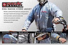 RISK RACING JACKET clear WATERPROOF RAIN COAT motocross bmx mtb LARGE