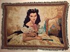 Gone With The Wind - Official Scarlett O'Hara Throw Afghan Tapestry - ULTRA RARE