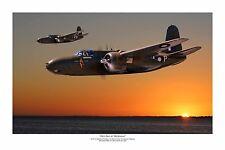 """WWII WW2 RAAF Douglas A-20 Boston / Havoc Aviation Art Photo Print  8"""" X 12"""""""