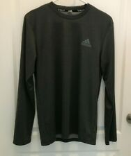 Men's Adidas Dark Gray Climalite Long Sleeve Shirt - Size S - Free Shipping!