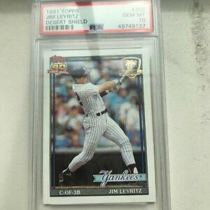 1991 Topps Desert Shield Jim Leyritz #202 PSA 10 GEM MINT Yankees Rare!