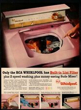 1957 RCA WHIRLPOOL Washing Machine - Pink - Retro VINTAGE AD