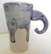 Elephant Coffee/Latte Mug Sherwood Brands Artistic Head and Trunk Handle