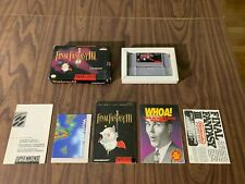 Final Fantasy III 3 (Super Nintendo, SNES) -- in Box with manual and map --