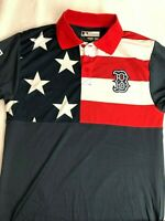 MLB Boston Red Sox Men's American Flag Polo - NWT - Blue - C101