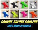COUVRES RAYONS MOTO MX ET ENDURO COUVRE RAYON  COULEUR BLEU  KIT ROUE AV/AR