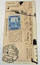 """SOMALIA ITALIANA L. 1,25 pittorica dent. 14 isolato ricevuta VAGLIA """"P.M. 123 S"""""""