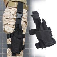 LN_ ND_ ADJUSTABLE TACTICAL DROP RIGHT LEG HOLSTER POUCH HOLDER FOR PISTOL GUN