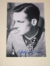 RUDOLF VON RIBBENTROP Signed 4x6 Photo D-Day World War II Iron Cross AUTOGRAPH 1