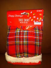 Plaid and White Mini Christmas Tree Skirt