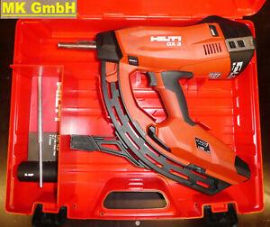 Hilti GX 3 Gasnagler, Betonnagler, GX3 mit 40er Magazin, 1x Gas + Koffer
