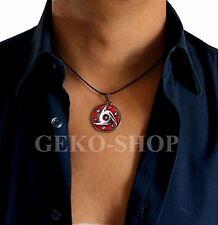 Naruto Collana UOMO pendente Ciondolo simbolo Mangekyou Sharingan portafortuna
