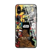 Star Wars Tempered Glass Case iPhone 6 6S 7 8 + X XR XS 11 Pro Max