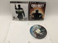 PS3 Game Lot, Call of Duty Modern Warfare 3, Black Ops 3 Zombies, Black Ops