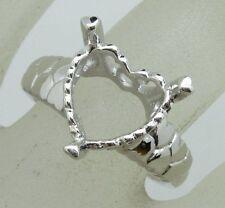 Free Shipping 10x10mm Heart Shape 925 Sterling Silver Semi Mount Ring Jewelry