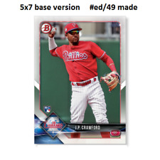 J P CRAWFORD Phillies RC #71 - 5x7 Base Version #ed/49 made 2018 Topps Bowman