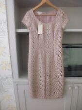 MONSOON 'LUCCA' PINK BLUSH NUDE LACE SHIFT DRESS - SIZE 8 - BNWT