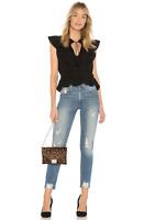 MCGUIRE DENIM High Rise Vintage Slim Skinny Jeans Weekend In Malta Blue $248 #13