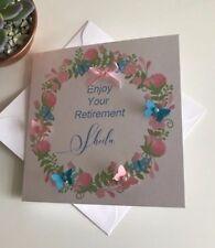 HANDMADE PERSONALISED RETIREMENT CARD  WORK MUM SISTER AUNTIE COLLEAGUE FRIEND