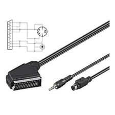 5 Meter Skart Scart Kabel Adapter Stecker auf S-VHS S-Video 4 polig Klinke 3,5mm