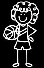 Me and My Peeps Family Decals Basketball Girl, Vinyl Decals Stickers - New